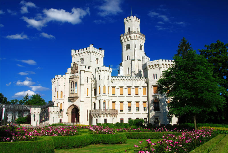 Castle Hluboka stock photography