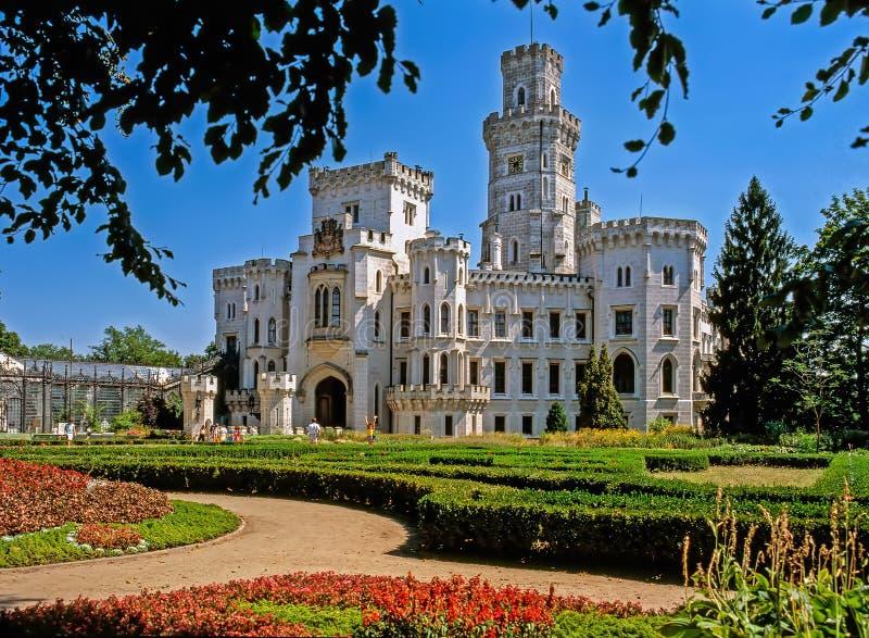Castle Hluboka, Czech Republic. Gardens in Castle Hluboka, Czech Republic royalty free stock photo