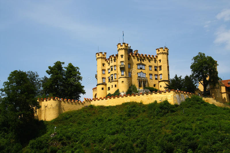 Castle Hohen Schwangau stock photos
