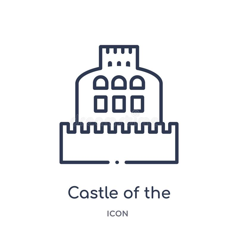 Castle of the holy angel in rome icon from monuments outline collection. Thin line castle of the holy angel in rome icon isolated. On white background vector illustration