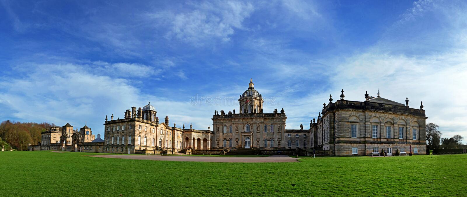 Castle Howard. Is a stately home in North Yorkshire, England, 15 miles (24 km) north of York. Part of the Howard family for more than 300 years. It is familiar royalty free stock photo
