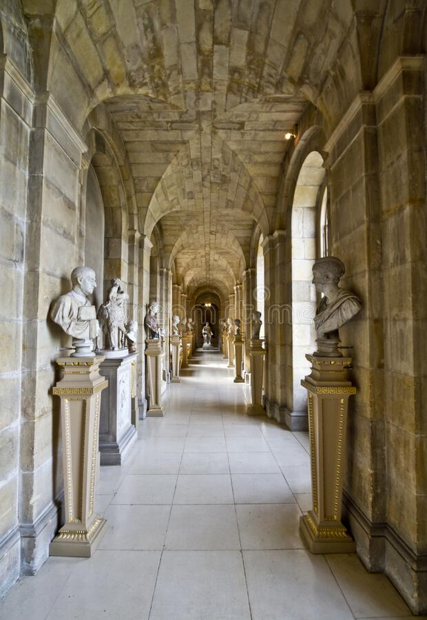 Castle Howard Antique Passage stock photography