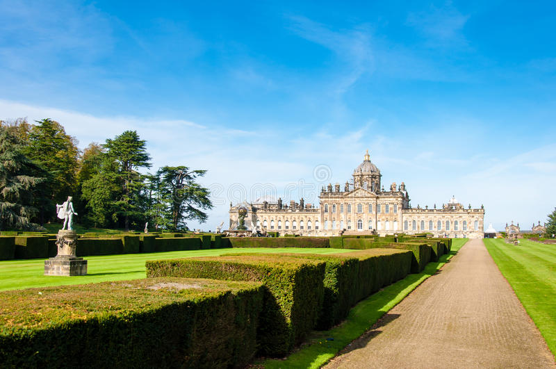 Castle Howard, North Yorkshire, UK. United Kingdom, North Yorkshire - October 5, 2014: Castle Howard is a famous stately home for Brideshead remake being filmed royalty free stock image