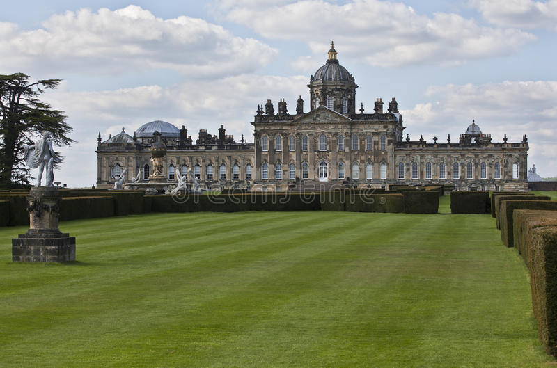 Castle Howard. Is a stately home in North Yorkshire, England, 15 miles (24 km) north of York. Part of the Howard family for more than 300 years. It is familiar royalty free stock photography