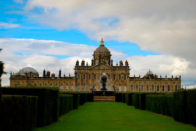 Castle Howard. Is a stately home in North Yorkshire, England north of York. One of the grandest private residences in Britain, most of it was built between 1699 stock image