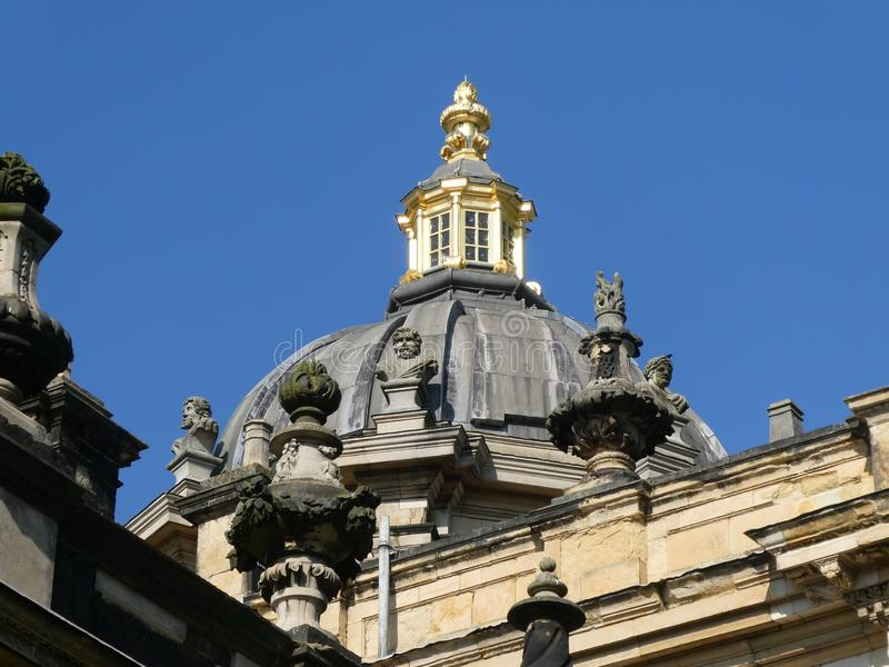 Castle Howard in the sun. Castle Howard on a warm April day. With the sun on it, highlighting the Architecture royalty free stock photography