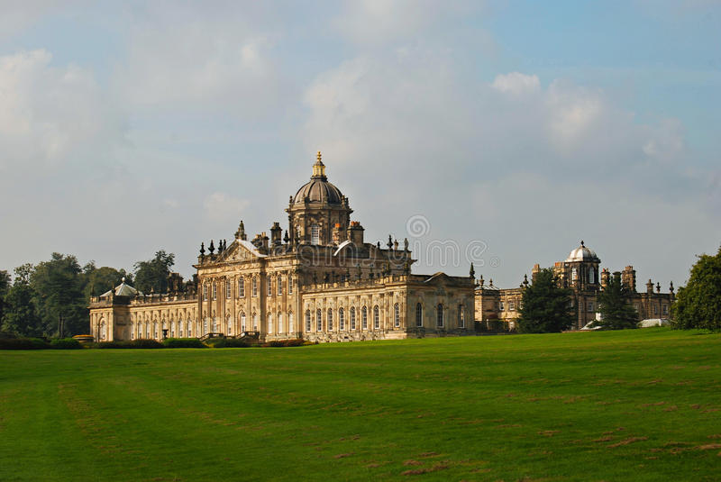 Castle Howard Yorkshire. Looking across the grass to Castle Howard royalty free stock photo