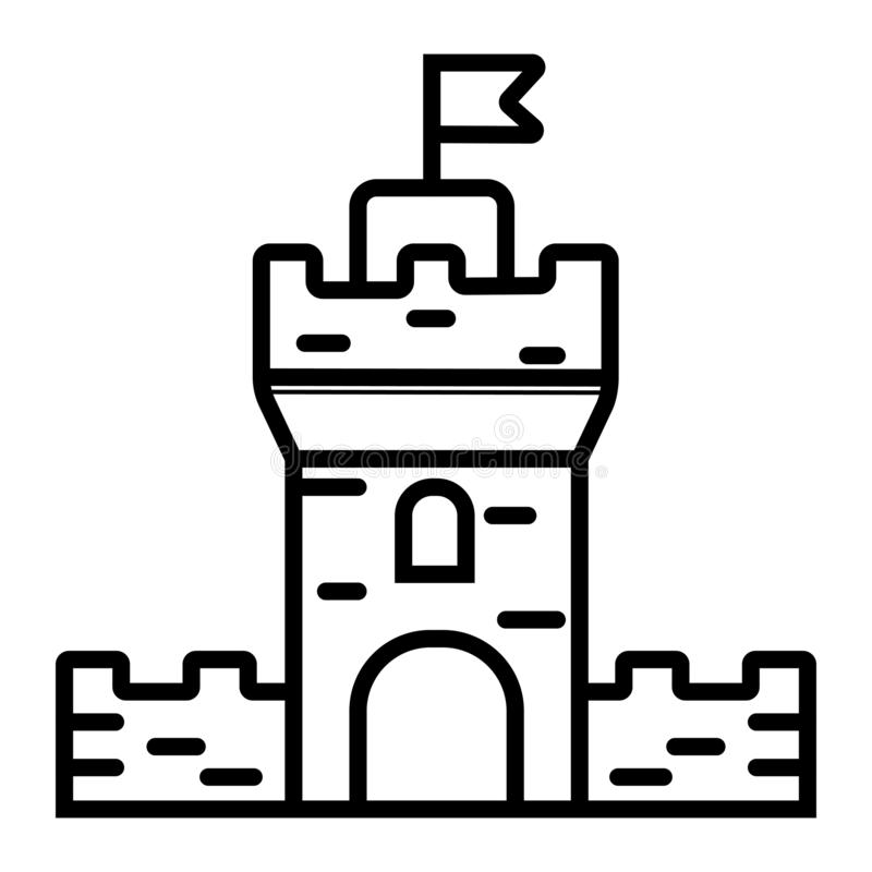 Castle Icon vector. Illustration flag stock illustration