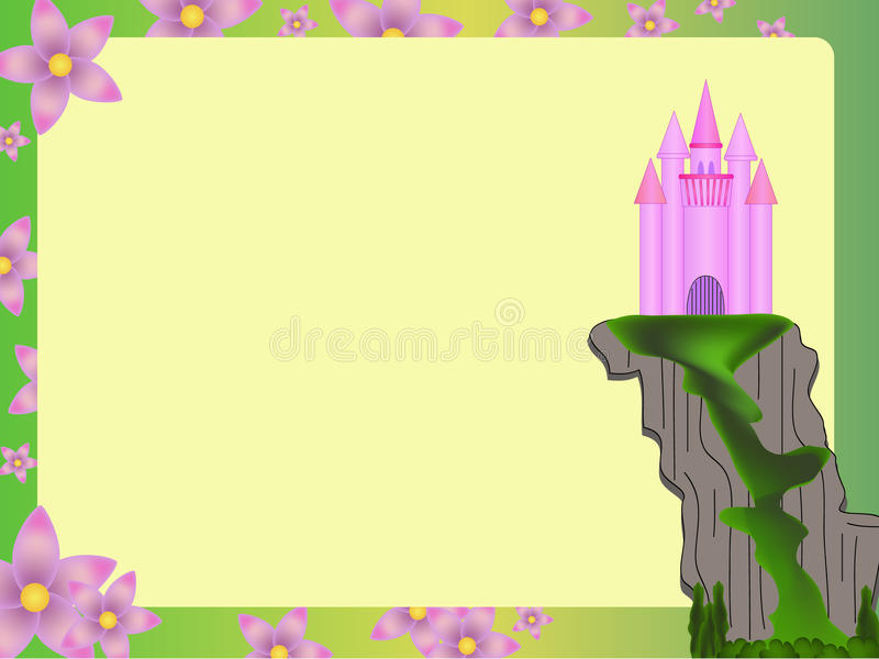 Castle illustration card royalty free stock photo