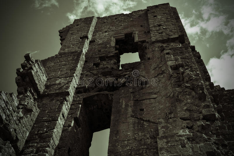 Castle. Image taken at Corfe Castle Aug 14 stock photos