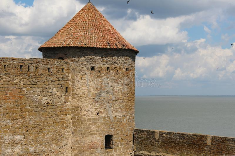 Castle, impregnable fortress. Ackerman castle, impregnable fortress, tower stock photography