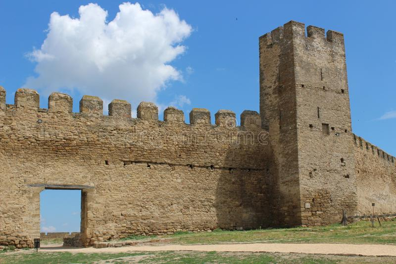 Castle, impregnable fortress. Ackerman castle, impregnable fortress, tower stock photos