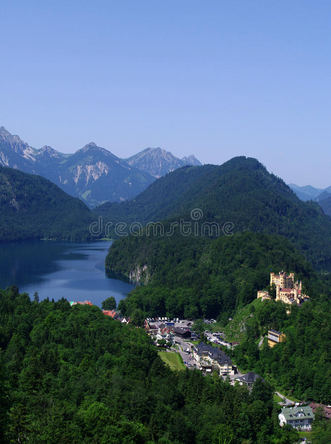 Free Castle In Bavarian Alps Royalty Free Stock Photo - 20127625