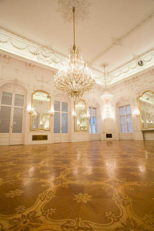 Castle interior, mirror room royalty free stock photo