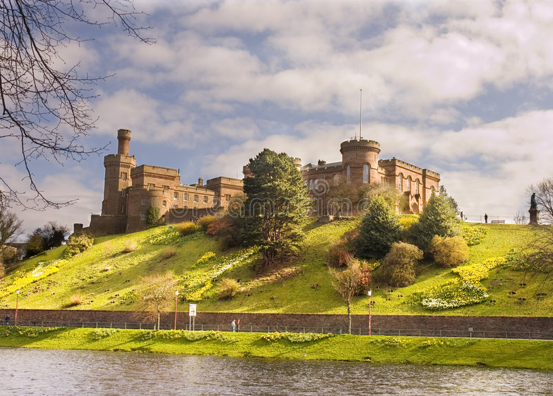 Castle at Inverness stock photo
