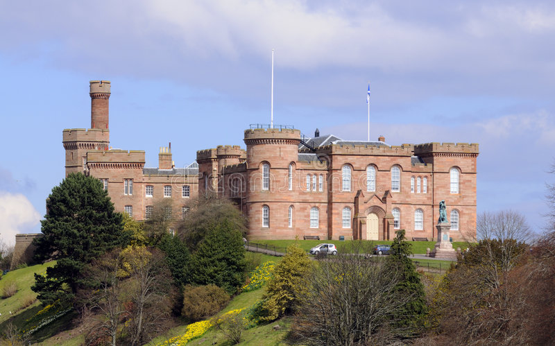Castle at Inverness in Scotland stock photo