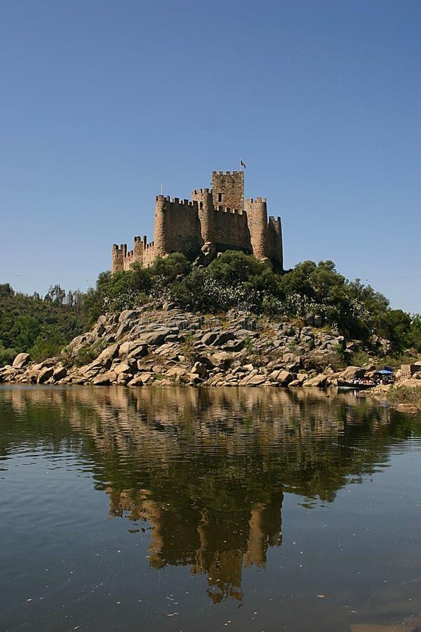 Castle island royalty free stock photos