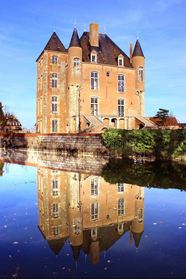 Castle, park and garden royalty free stock photo