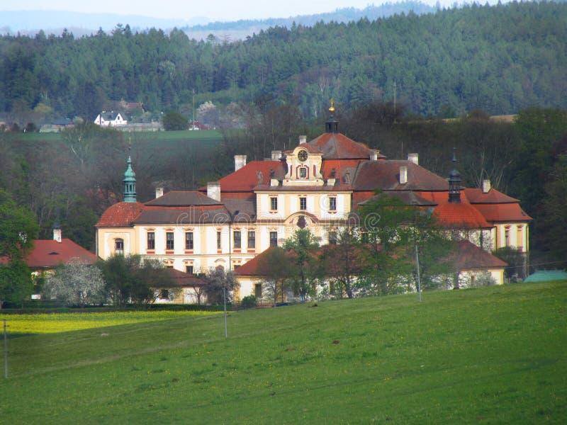 Castle Jemniste, Baroque castle in Bohemia, cultural heritage. In Czech Republic stock photo