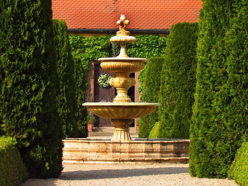 Castle Jemniste, Baroque castle in Bohemia, cultural heritage. In Czech Republic stock photos