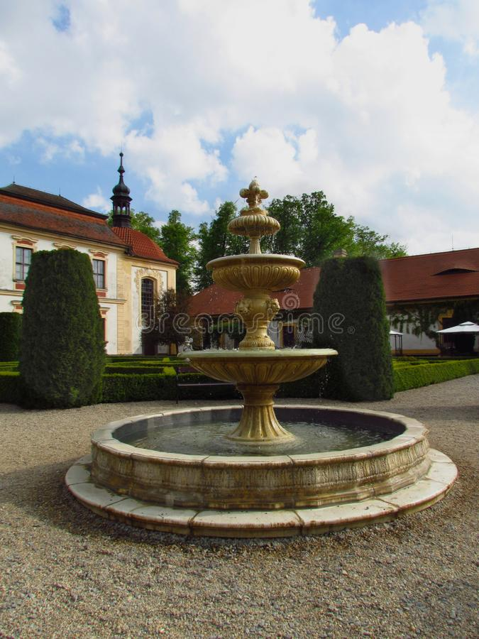 Castle Jemniste, Baroque castle in Bohemia, cultural heritage. In Czech Republic stock images