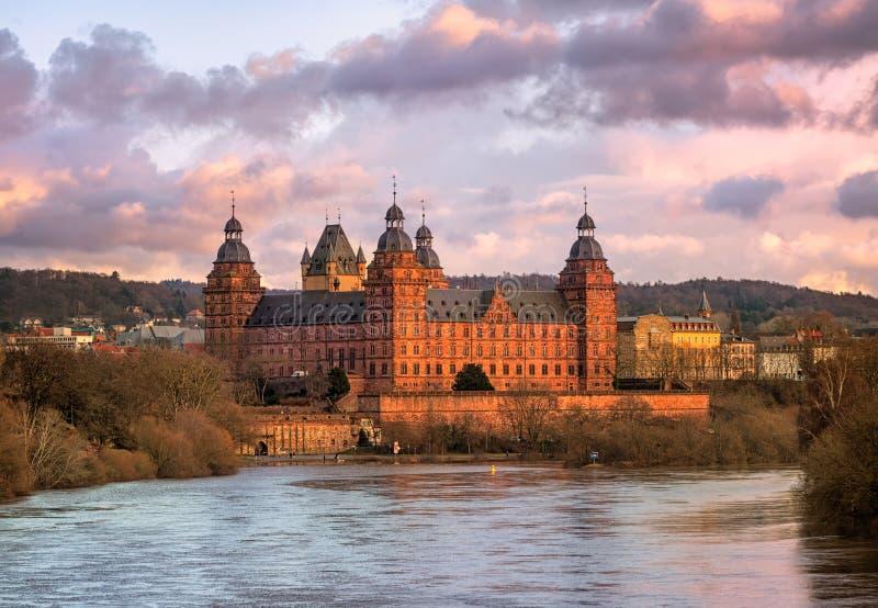 Castle Johannisburg, Aschaffenburg, Germany. Renaissance castle Johannisburg on Main river, Aschaffenburg, Germany royalty free stock images