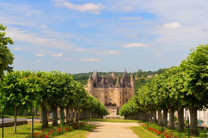 Castle JUMILHAC LE GRAND in Frankrijk stock afbeeldingen