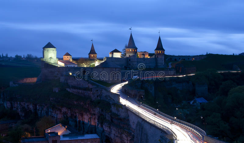 Castle in Kamianets-Podilskyi stock photography