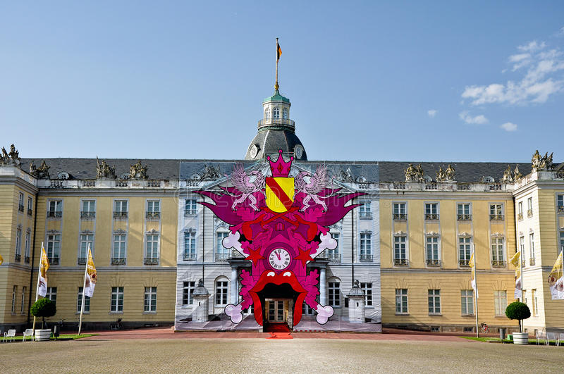 The castle of Karlsruhe in Germany stock images