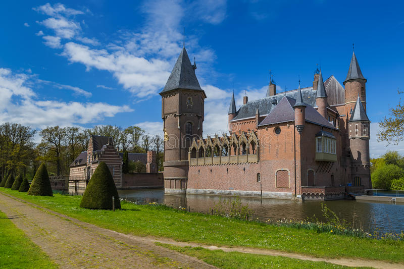 Castle Kasteel Heeswijk in Netherlands stock photography
