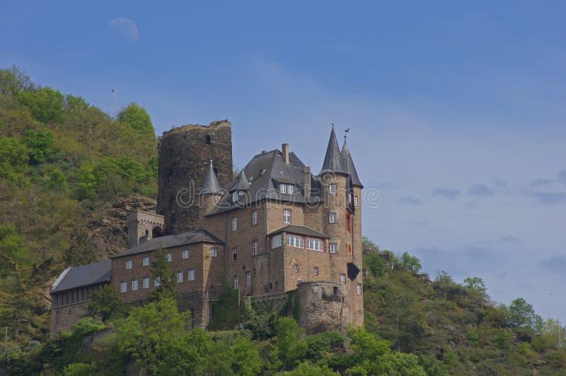 Download Castle Katz stock image. Image of tree, slope, goar, walls - 24684567