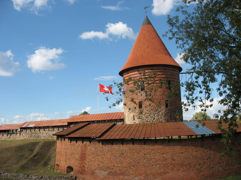 Castle in Kaunas royalty free stock photography