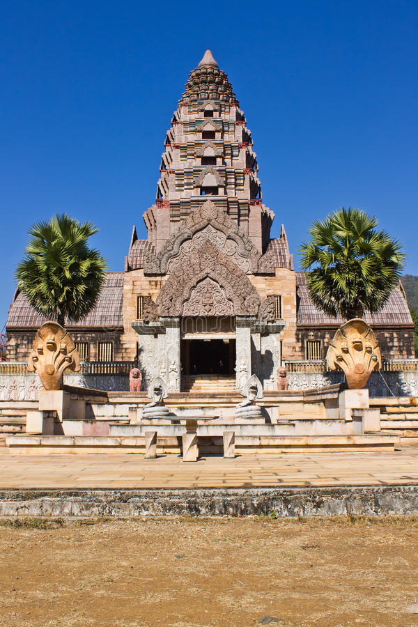 Castle of Khmer art in Thailand royalty free stock image