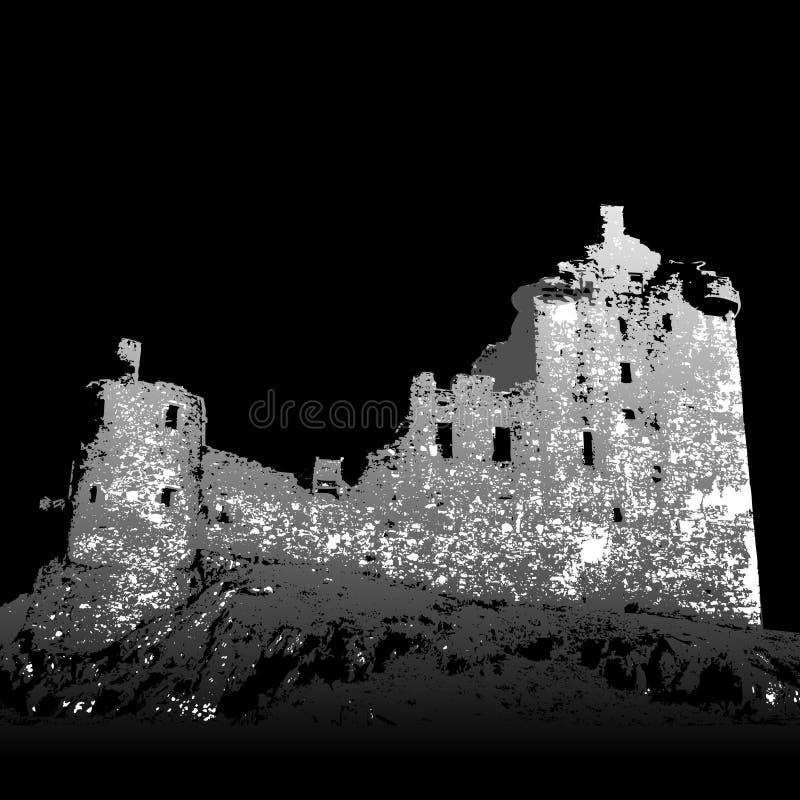 Download Castle Kilchurn ruins stock vector. Image of historic - 3372091