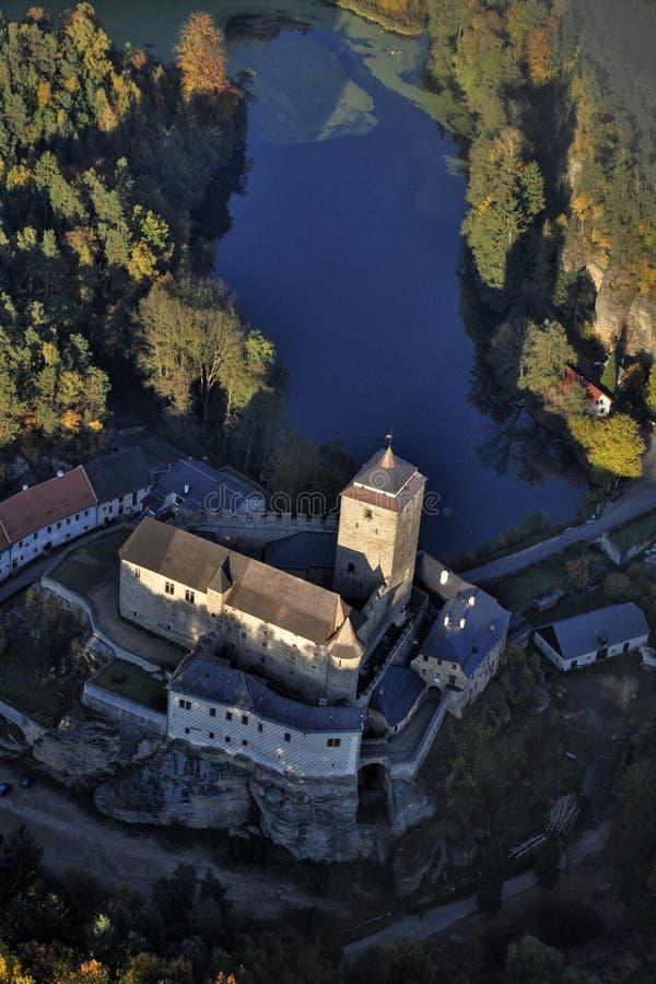 Castle Kost - φωτογραφία μυγών στοκ φωτογραφίες
