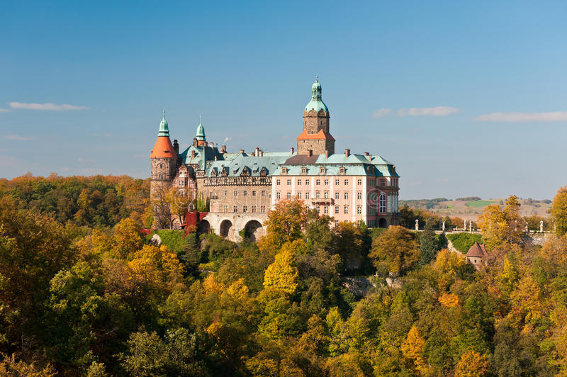 Castle Ksiaz. View on Castle Ksiaz, Poland royalty free stock photography
