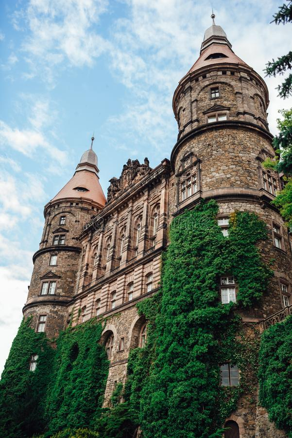 Castle ksiaz in Swiebodzice Poland stock photography