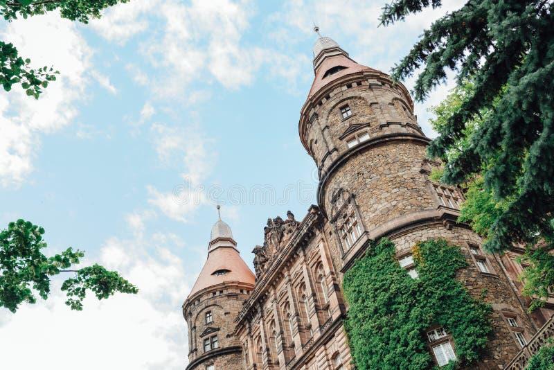 Castle ksiaz in Swiebodzice Poland stock images