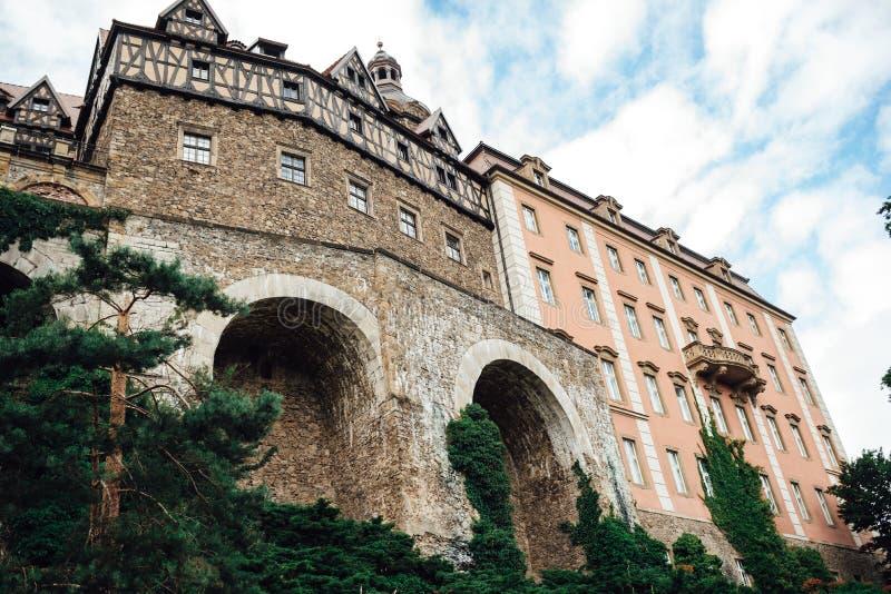 Castle ksiaz in Swiebodzice Poland stock photography