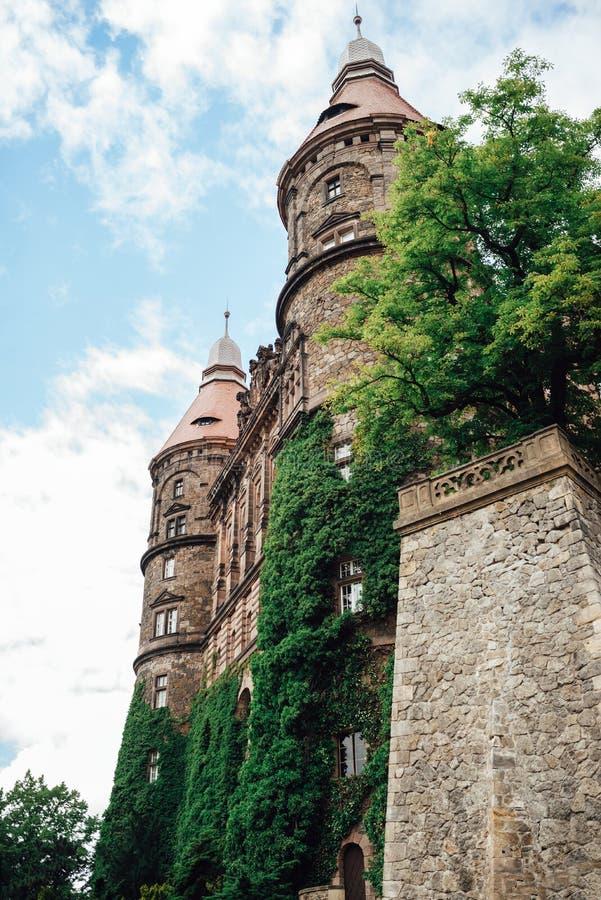 Castle ksiaz in Swiebodzice Poland stock image