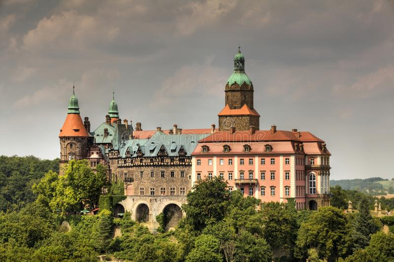 Castle Ksiaz in Walbrzych royalty free stock image