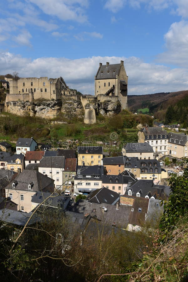 Castle of Larochette, Luxembourg royalty free stock photo