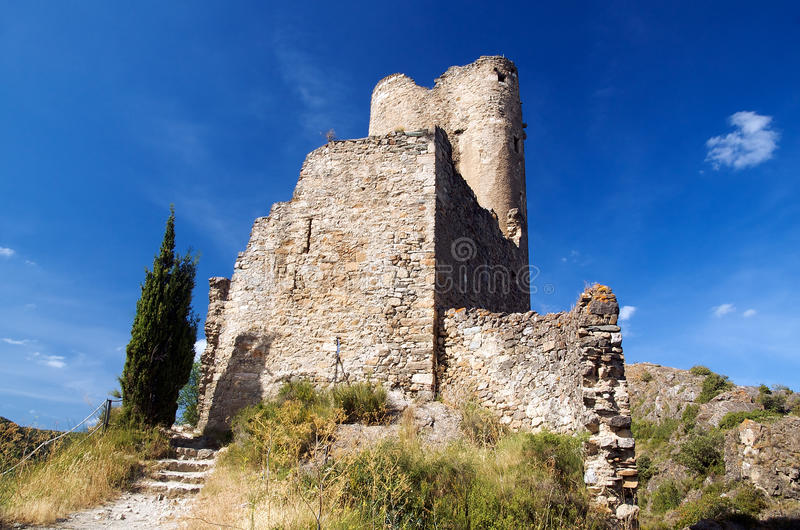 Castle of Lastours 4 royalty free stock photo