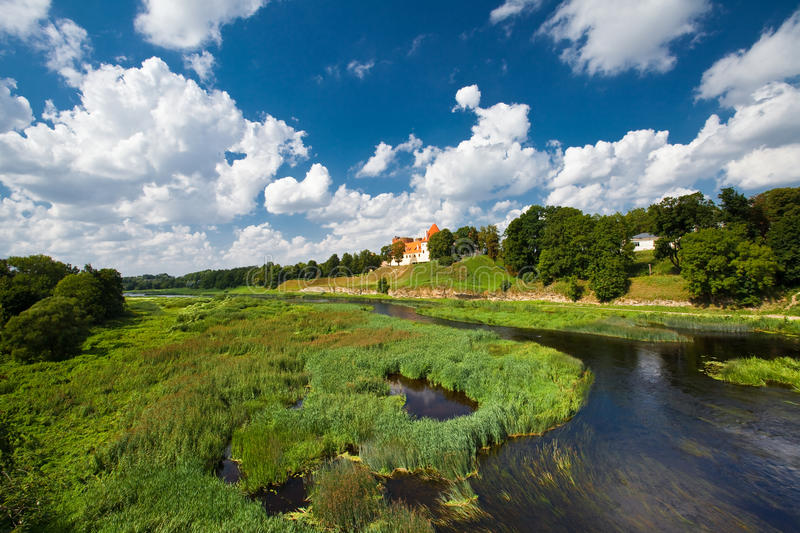 The castle in Latvia stock image
