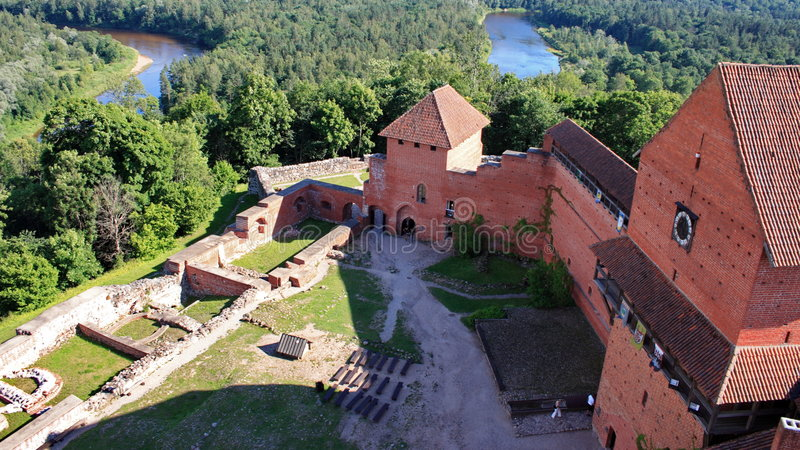 Castle in Latvia royalty free stock photography