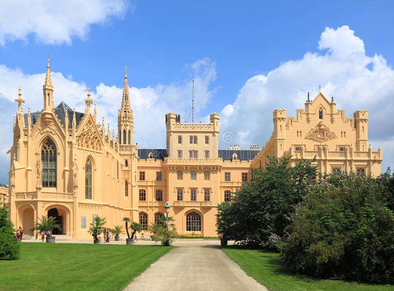 Castle Lednice stock photos