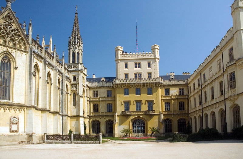 Castle in Lednice, CZ stock images