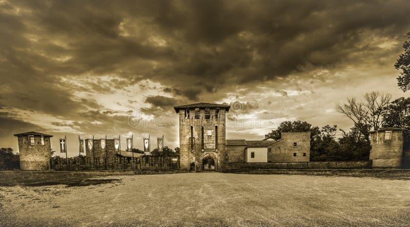 Castle Legnano στοκ φωτογραφίες