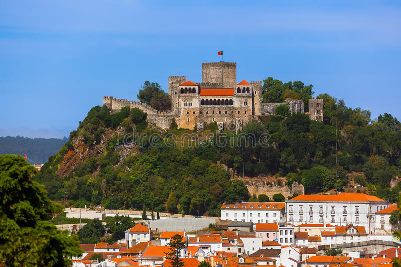 Castle in Leiria - Portugal. Architecture background royalty free stock photos