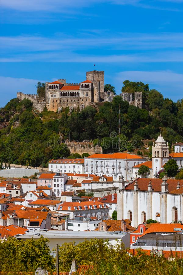 Castle in Leiria - Portugal. Architecture background stock photography
